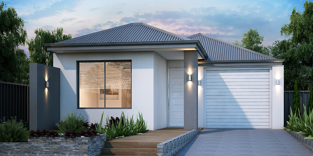 B1 Homes - The Broadway - 7.5m frontage, 3 bed, 2 bath 1 garage - first home owner elevation