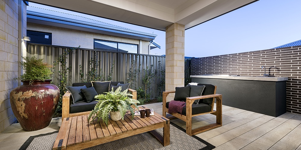 B1 Homes_The Jordan Display Home - alfresco area designed for familys and friends to relax and entertain