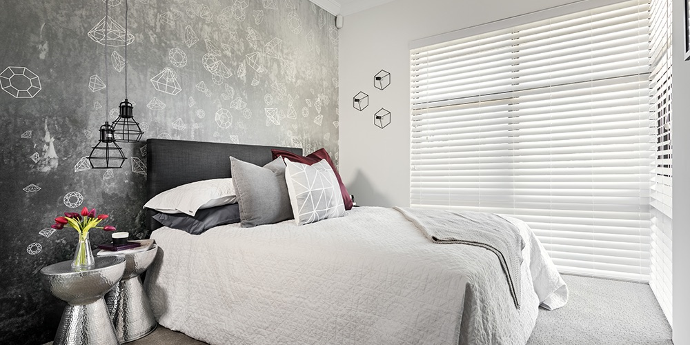 B1 Homes_The Jordan Display Home - sun drenched second bedroom overlooking garden