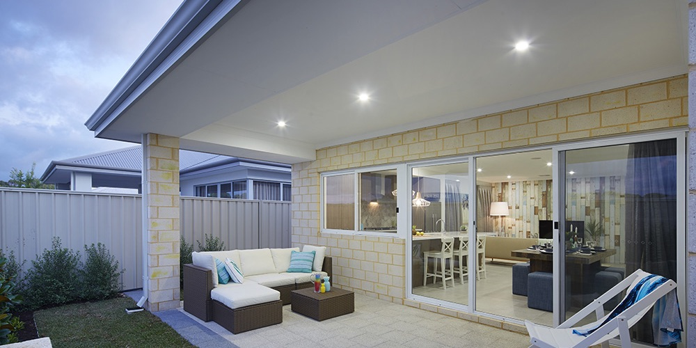 B1 Homes_The Purus Display Home - generous alfresco area that leads into garden area