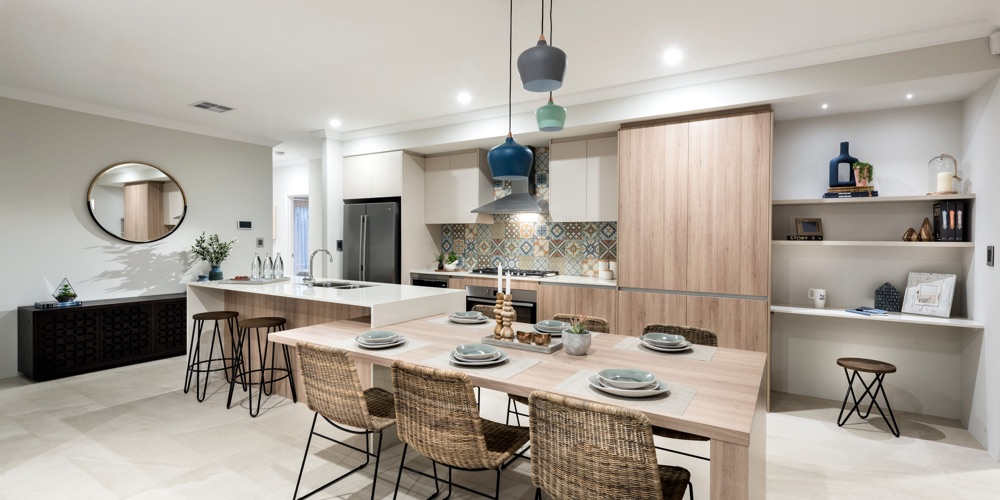 B1 Homes_The Thames Display Home - Modern family orientated kitchen with IT Nook
