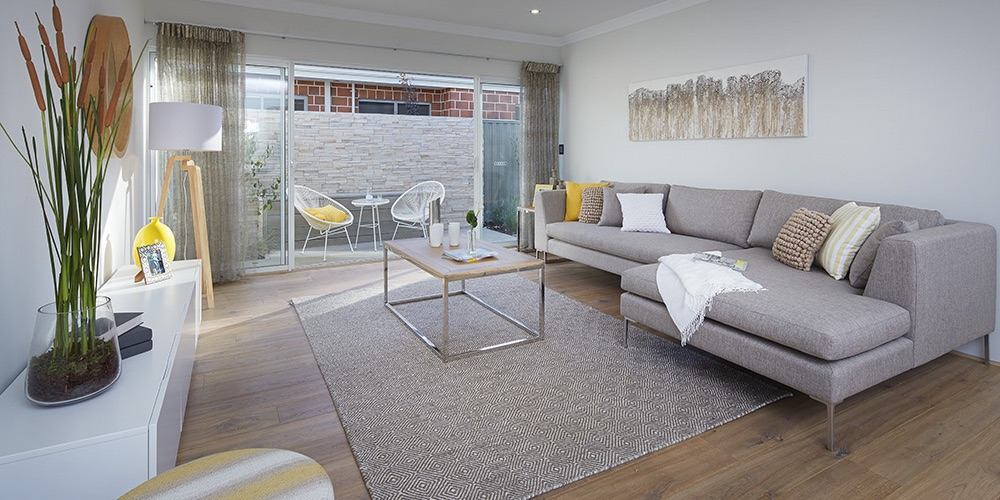 B1 Homes_the Avenue - the family living room leading out onto outdoor alfresco area