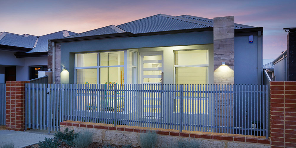 B1 Homes Display Home - The Dvina - 7.5m frontage, 3 bed, 2 bath, 2 garage - first home owner elevation