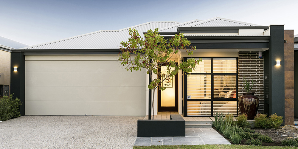 B1 Homes - The Jordan Display Home -10m frontage 3 bed, 2 bath, 2 garage first home buyer elevation