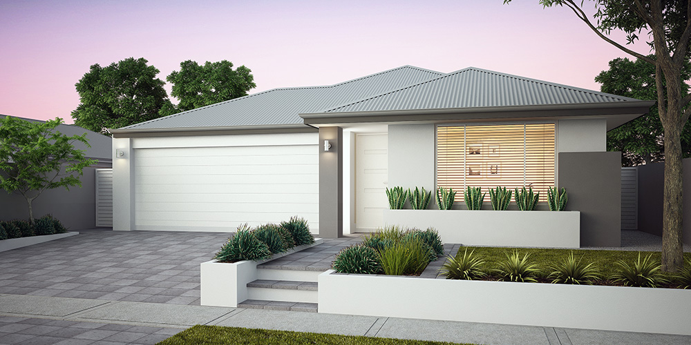 B1 Homes - The Luxe - 12.5m frontage, 3 bed, 2 bath, 2 garage - first home owner elevation