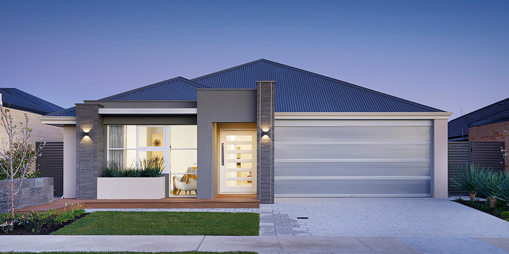 B1 Homes - The Nelson Display Home - 14m frontage, 4 bed, 2 bath, 2 garage - first home buyer elevation